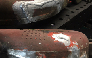 Spawanie aluminiowego korpusu kosiarki