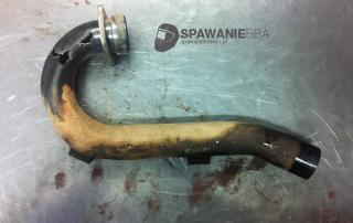 Naprawa / Rekonstrukcja tytanowego kolanka wydechowego – Kawasaki KXF250
