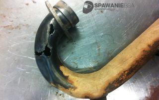 Naprawa / Rekonstrukcja tytanowego kolanka wydechowego - Kawasaki KXF250