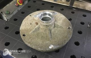odtworzenie uchwytu wykonanego z aluminium