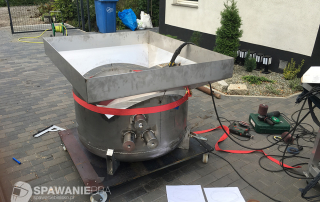 Zbiornik ze stali nierdzewnej do nakładania powłok preaplikowanych