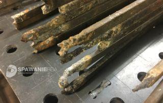 Tytanowe haki galwaniczne do anod - naprawa